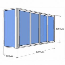 Балкон Г-образный Prime Plast 2850х1450х850 мм