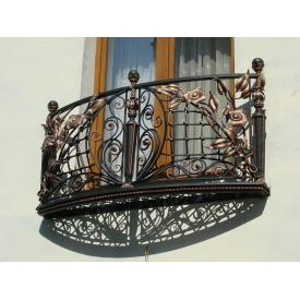 Балкон кований декоративний для будівельних об`єктів