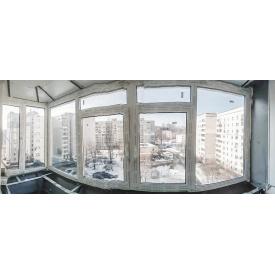 Балкон Г-образный Rehau 2800х1450х850 мм