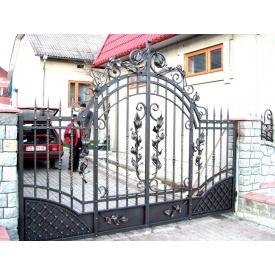 Ворота кованые Киев 3.4 м с узором открытые Legran