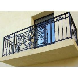 Каркас балкона металевий зміцнений з кованими елементами Legran