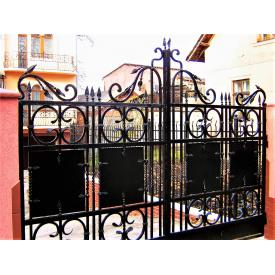 Ворота ковані чорні Б0034в 4.4м на 1.9м