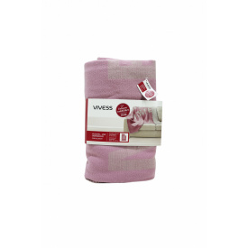 Плед-покрывало 150*200см розовый-серый K10-550599