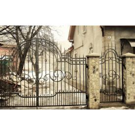 Ковані ворота ажурні з хвірткою Legran