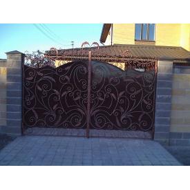 Ворота 3.6x1.8м с профнастилом с художественными элементами Legran
