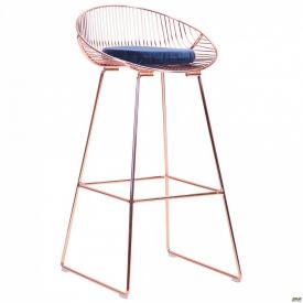 Барный стул Chik, rose gold, royal blue