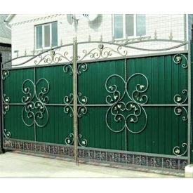 Ворота ковані з профнастилом Б0021пр Legran
