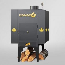 Піч дров`яна Canada з теплоаккумулятором і захисним декоративним кожухом