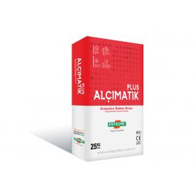 Гипсовая машинная концентрированная штукатурка ALÇIMATİK PLUS 25 кг