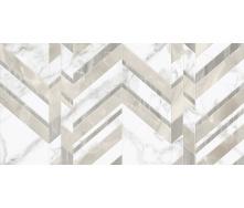 Керамическая плитка Marmo Bianco шеврон 300х600