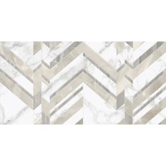 Керамічна плитка Marmo Bianco шеврон 300х600