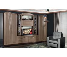 Вітальня Модерн Ніколь 320х50х208 см штрокс шоколад
