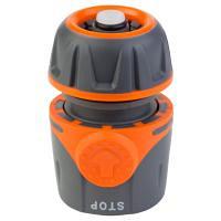 """Коннектор 1/2\"""" быстросъёмный для шланга 1/2\"""" аквастоп FLORA (5015494)"""