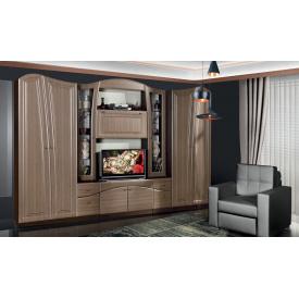 Гостиная Модерн Николь 320х50х208 см штрокс шоколад