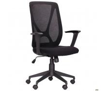 Офісне крісло AMF Nickel 103-111х65х58 см чорна чітка