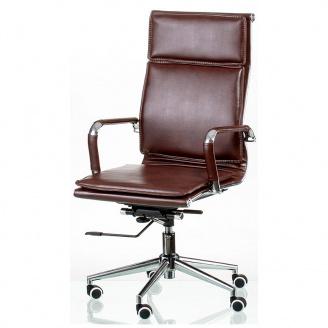 Офісне крісло Special4You Solano 4 artleather brown-коричневе хром