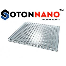 Сотовый поликарбонат ТМ SOTON NANO 8х2100х6000 мм прозрачный
