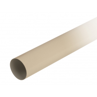 Труба водостічна з муфтою Nicoll 80 мм бежевий