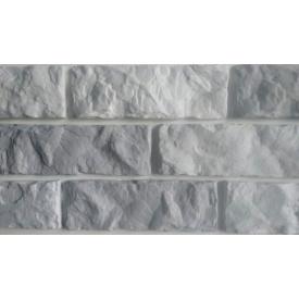 Гипсовая плитка Колотый кирпич 210*72мм серый