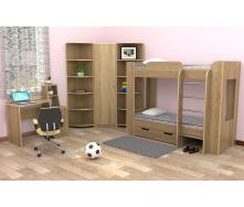 Детская спальня Компанит модульный набор №2 лдсп дуб-сонома