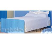 Детская кровать Симба 900 береза/синий Мебель-Сервис