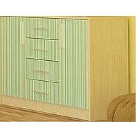 Комод Симба 2Д4Ш береза/зеленый Мебель-Сервис
