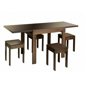 Столовый комплект Твист (стол+4 табурета) орех Мебель-Сервис