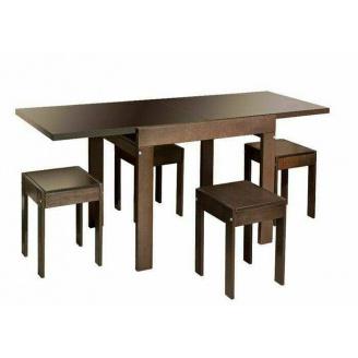 Столовий комплект Твіст (стіл + 4 табурета) горіх Меблі-Сервіс