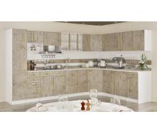 Кухня Алина 2,6 м со столешницей мрамор темный Мебель-Сервис