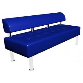 Синій двомісний диванчик Tonus Sentenzo 1400х600 мм для відвідувачів