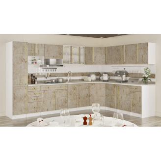 Кухня Алина 2,0 м со столешницей Мрамор темный Мебель-Сервис