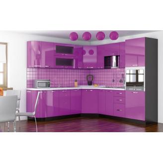 Кухня Гамма глянец 2,0 м со столешницей венге/фиолетовый Мебель-Сервис