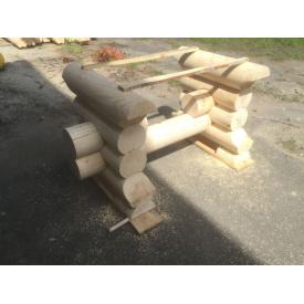 Каркас під стіл з оциліндрованих колод 2-3 м