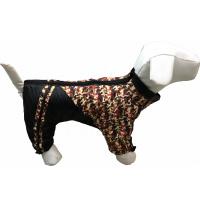 Дождевик для собак Dogs Bomba 5 Камуфляж мелкий Красный (MF-15/5)