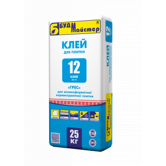 Клей-12 Будмайстер для керамограніту (КН-12) 25 кг