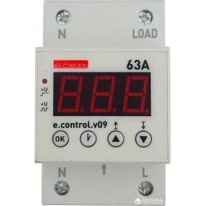 Реле контроля напряжения E.NEXT однофазное 63А c индикацией e.control.v09