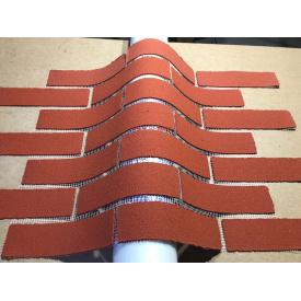 Гнучка клінкерна плитка 1000х500 мм на склосітці