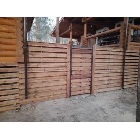 Заборная секция из сосны АВ 1,7х2 м