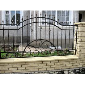 Кованый забор Пв0011 с пиками Legran