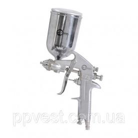 Краскопульт пневматический HP форсунка 1,5мм верхний металлический бачок 400мл 5бар INTERTOOL PT-0202