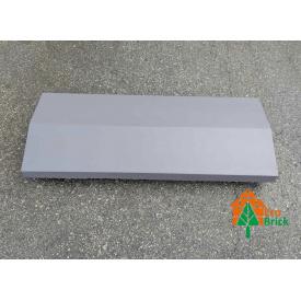 Конек для забора бетонный 220х680 мм графит
