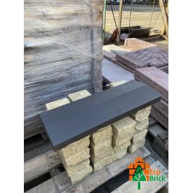 Конек для забора бетонный 280х680 мм черный
