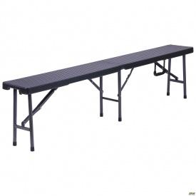 Лавочка складная Джили RBK-180 180/90*25*43 пластик Rattan Black