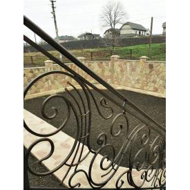 Перила кованые фасадные для частного дома Legran Пк021