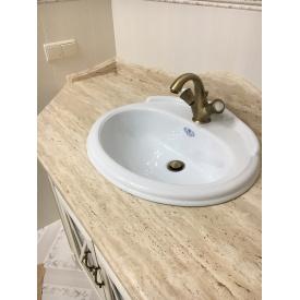 Стільниця у ванну кімнату з натурального каменю