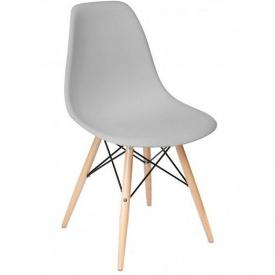 Пластиковый стул Тауэр Вуд 820х460х420 мм серый ножки дерево бук