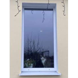 Окно глухое с качественного профиля WDS Classic, с однокамерным стеклопакетом, 700х1400 мм