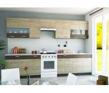 Кухня Алина комплект 2м дуб санома + мокко Сокме