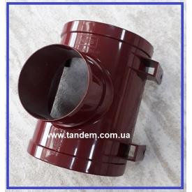 Воронка жолоба зливна INES 120/80 мм червоний