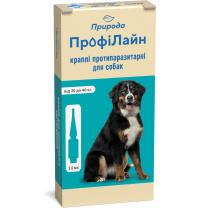 Капли от блох и клещей Природа ПрофиЛайн для собак от 20 до 40 кг 4 пипетки х 3 мл